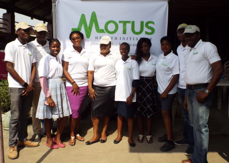 Team members of Motus Health Initiative at Ire Akari Isolo Free Medical Outreach